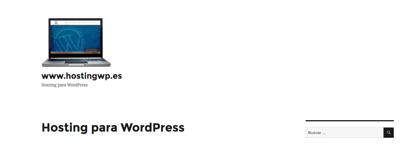 WordPress con logotipo