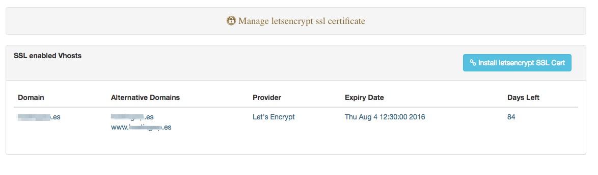 LetsEncrypt instalado