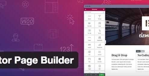 Elmentor page builder para WordPress