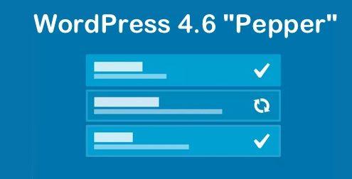 WordPress 4.6 Pepper