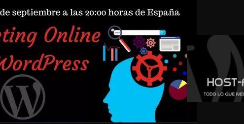 Webinar gratuito marketing online con WordPress