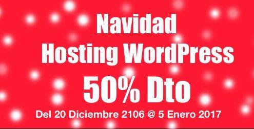Navidad 2017 Hosting WordPress 50% Descuento
