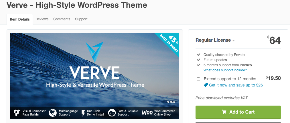 Tema WordPress Verve