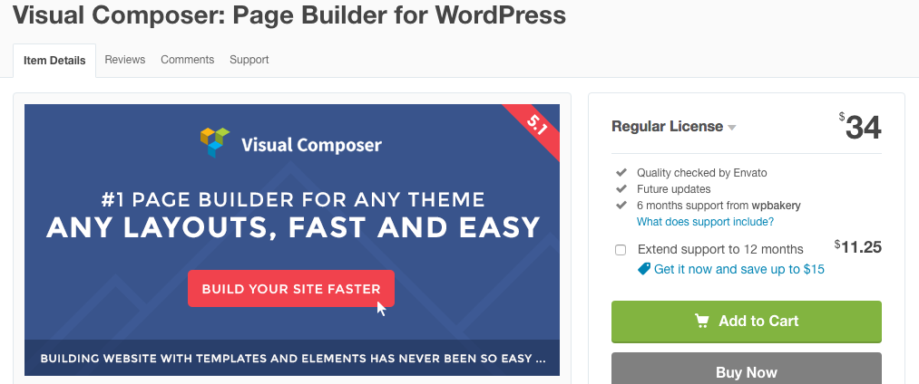visual Composer plugin builder para WordPress