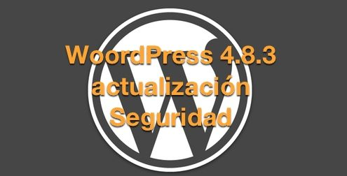 WordPress 4.8.3 actualización de seguridad