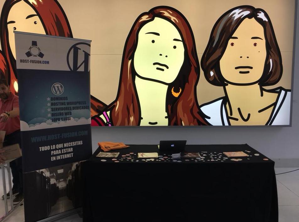 Stand Host-Fusion en la WordCamp Valencia 2018