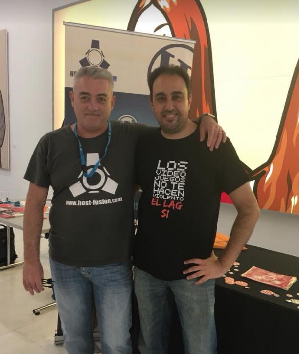 Con Javi Olmo en la WordCamp Valencia 2018