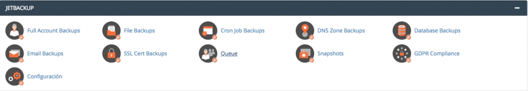 Panel de control Jetbackup, HostFusion