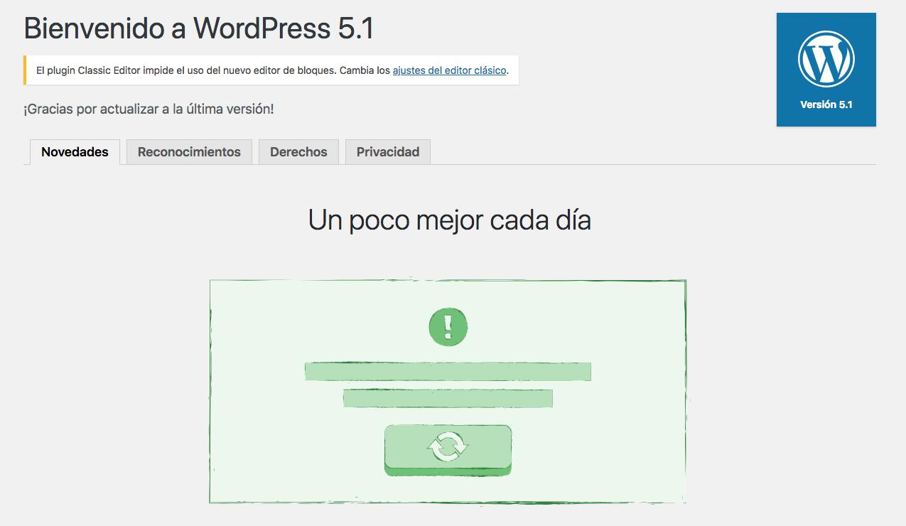 Bienvenidos a WordPress 5.1