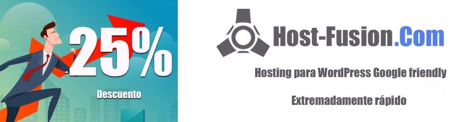 Bono descuento 25% en Host-Fusion.Com