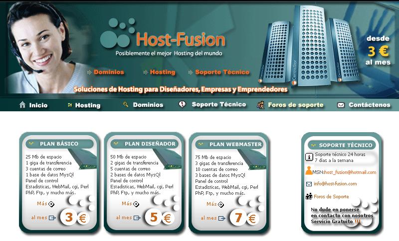 Primera web Host-fusion.Com