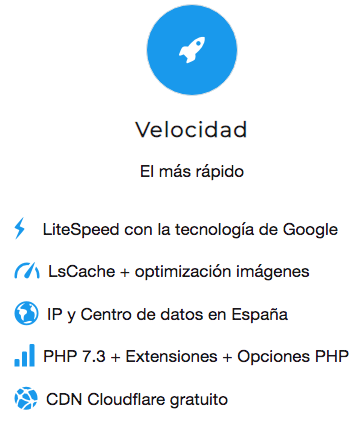 El hosting más rápido de España