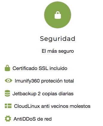 El hosting mas seguro de España