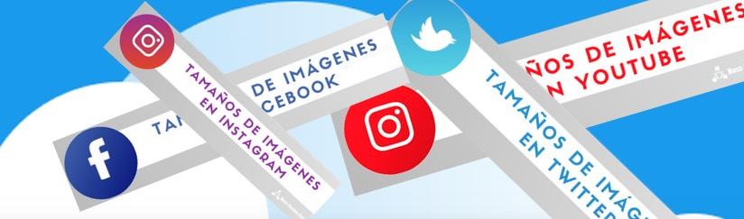 Tamaños de las imágenes en redes sociales en 2020