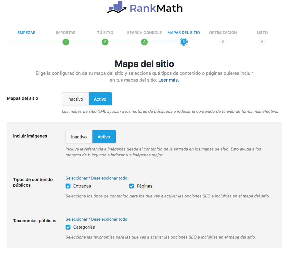 mapa del sitio Rank Math SEO
