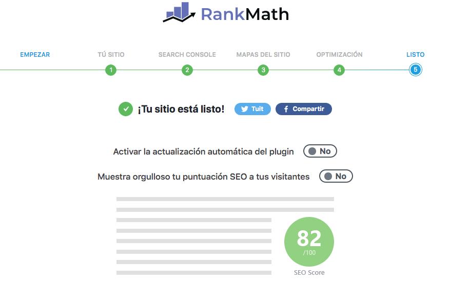 Configuración completa Rank Math SEO