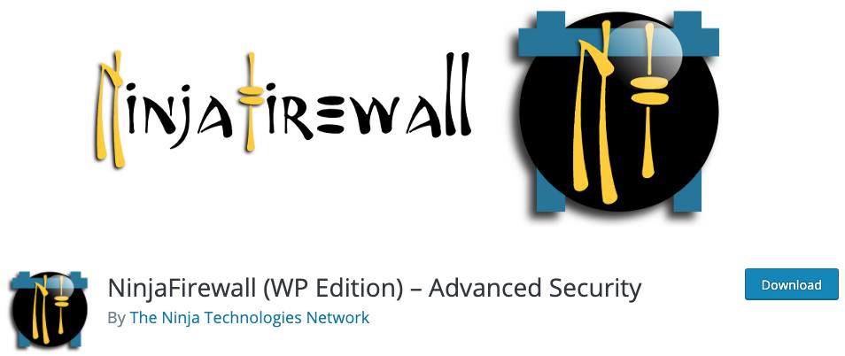 NinjaFirewall (WP Edition) – Advanced Security