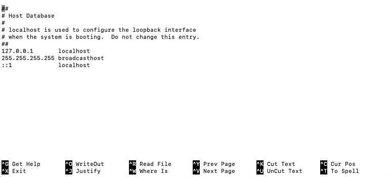 archivo host Mac Os