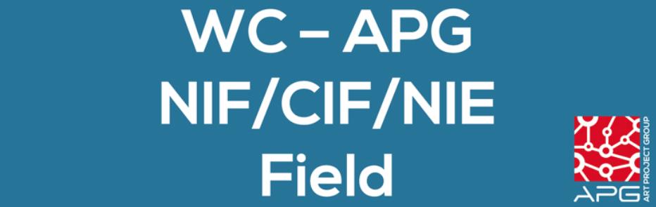 WC – APG Campo NIF/CIF/NIE