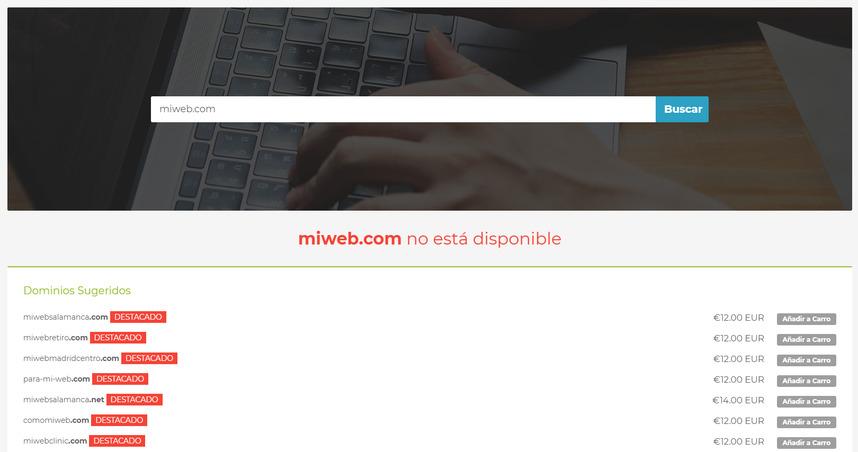 Encontrar nombre de dominio web
