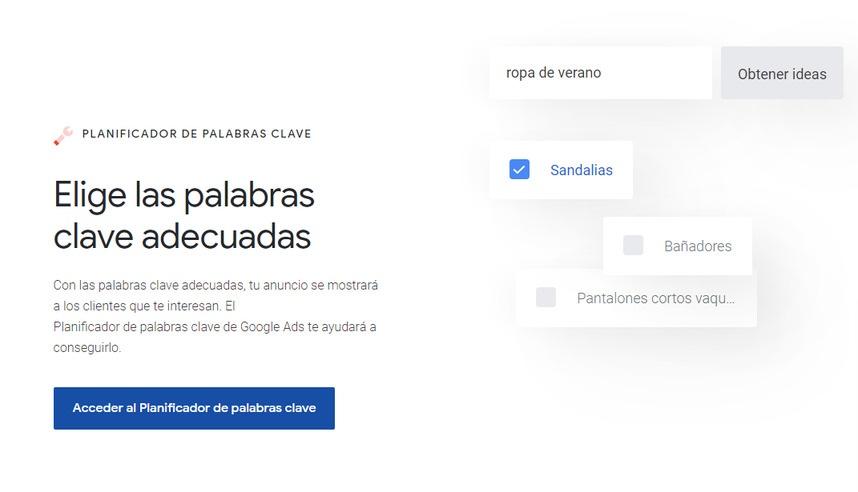 Google Ads (herramienta de planificador de palabras clave)
