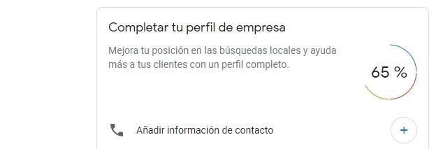 Completar perfil de empresa en Google my business