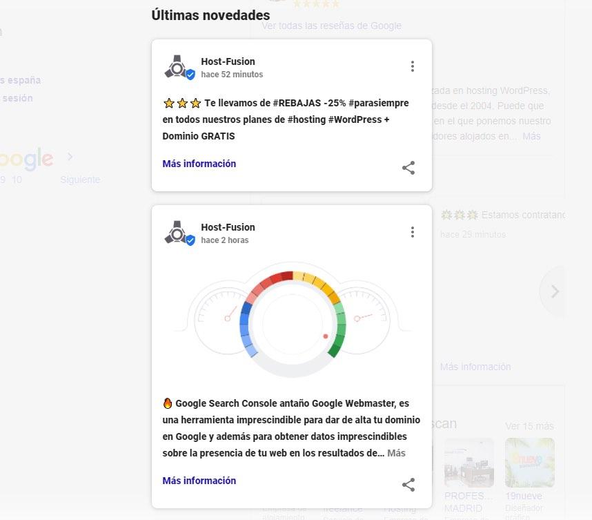 Publicaciones en Google my Business
