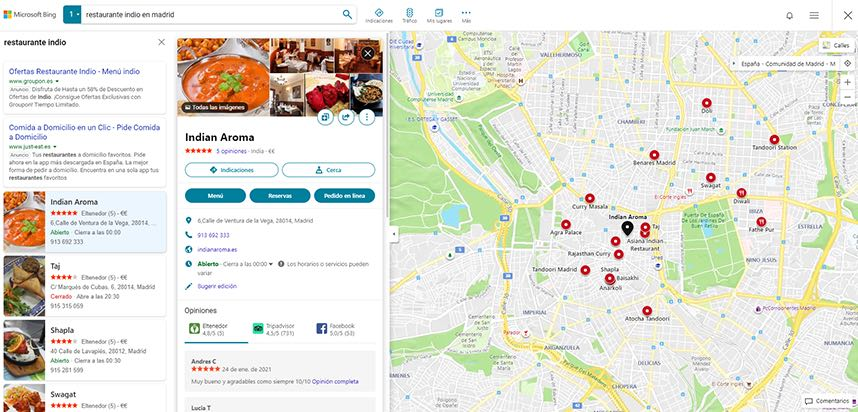 mapas de Bing