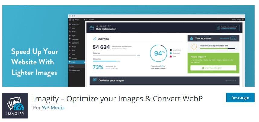 optimizar imágenes con plugin imagify