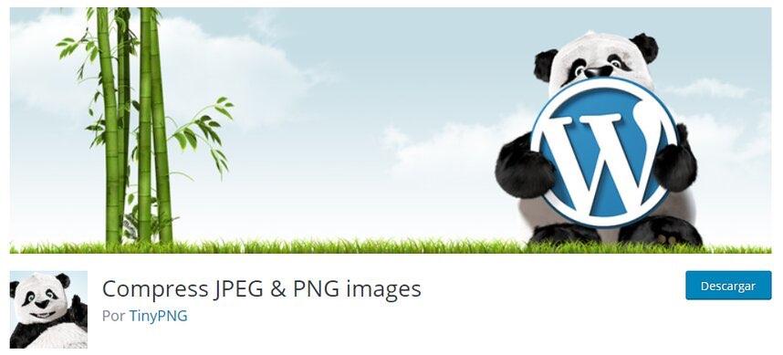tiny png plugin WordPress para optimizar imágenes