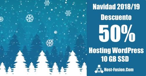 Hosting WordPress 10 GB SSD 50% de descuento para siempre