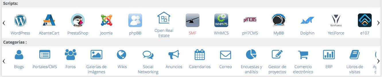 Softaculous premium, instala WordPress, Joomla, Prestashop en un clic