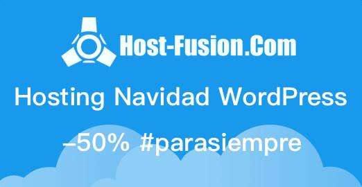 Hosting Navidad Host-Fusion.Com 50% descuento #parasiempre